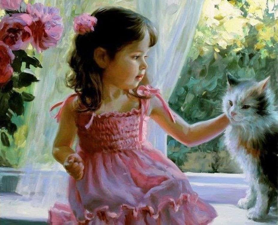 Картинки для девочек 8-9 лет с животными красивые