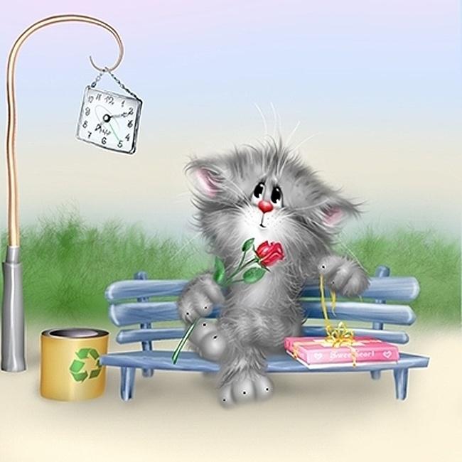Сентября, открытки с котиками прикольные